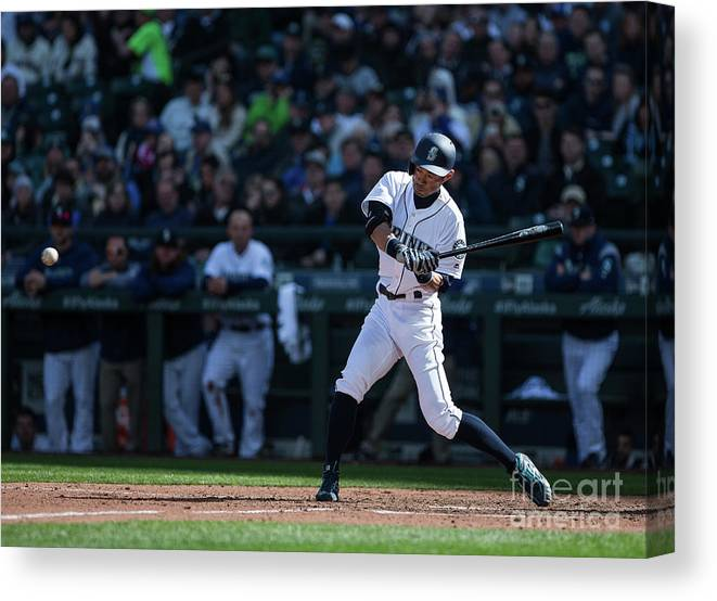 People Canvas Print featuring the photograph Ichiro Suzuki and Cap Anson by Lindsey Wasson