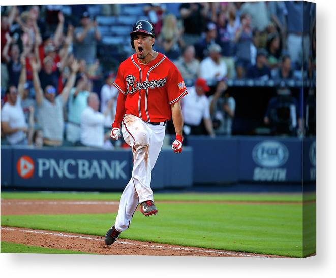 Atlanta Canvas Print featuring the photograph Jace Peterson by Kevin C. Cox