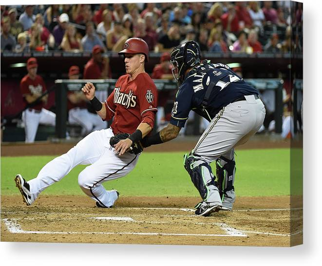 Second Inning Canvas Print featuring the photograph Jake Lamb by Norm Hall