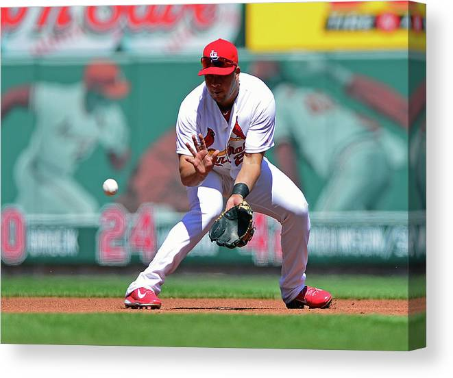 St. Louis Cardinals Canvas Print featuring the photograph Jhonny Peralta by Jeff Curry