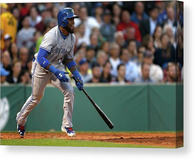 Second Inning Canvas Print featuring the photograph Jose Reyes by Jim Rogash