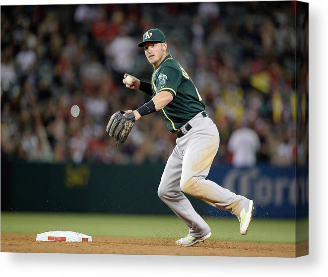 American League Baseball Canvas Print featuring the photograph Josh Donaldson by Harry How