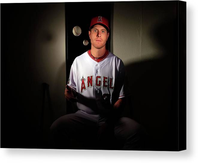Media Day Canvas Print featuring the photograph Josh Hamilton by Jamie Squire