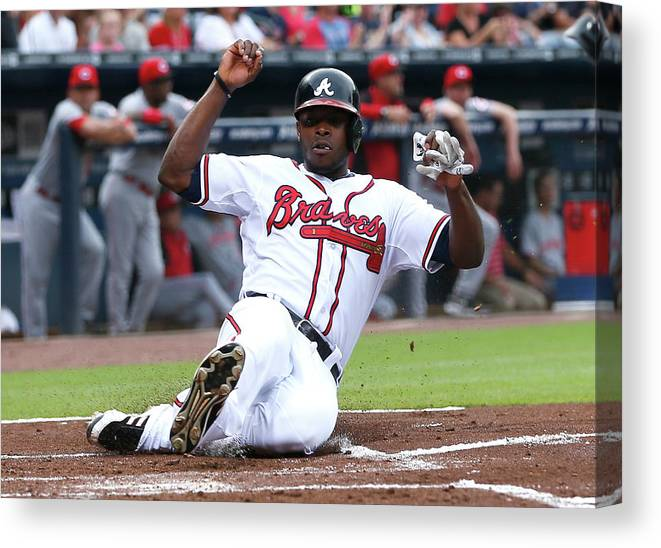 Atlanta Canvas Print featuring the photograph Justin Upton by Kevin C. Cox