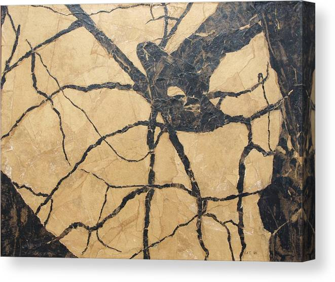 Abstract Canvas Print featuring the painting Looking Up by Leah Tomaino