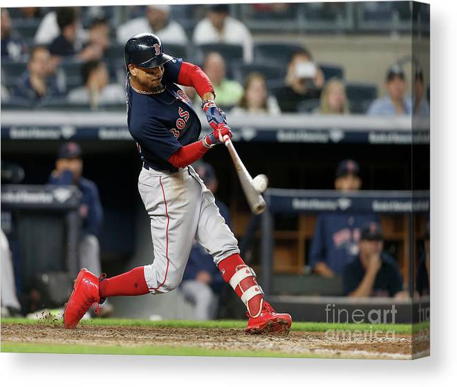 People Canvas Print featuring the photograph Mookie Betts by Jim Mcisaac
