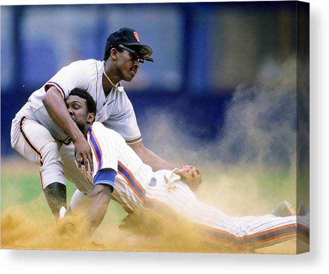 1980-1989 Canvas Print featuring the photograph Mookie Wilson by Ronald C. Modra/sports Imagery