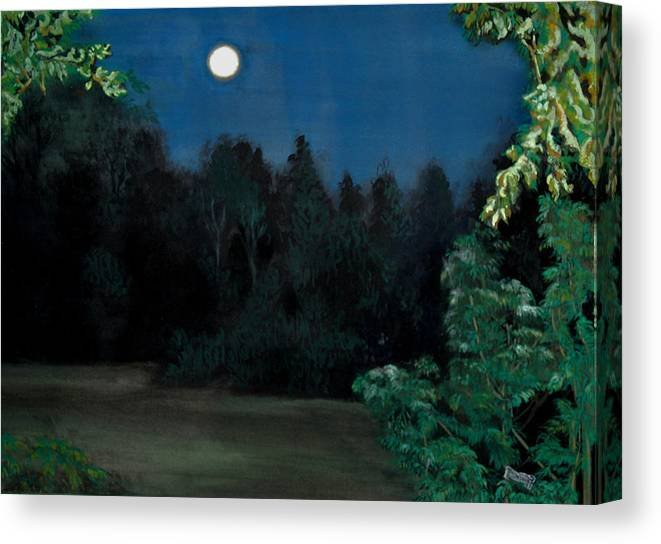 Moon Canvas Print featuring the painting Moon Shadow by Susan Moore