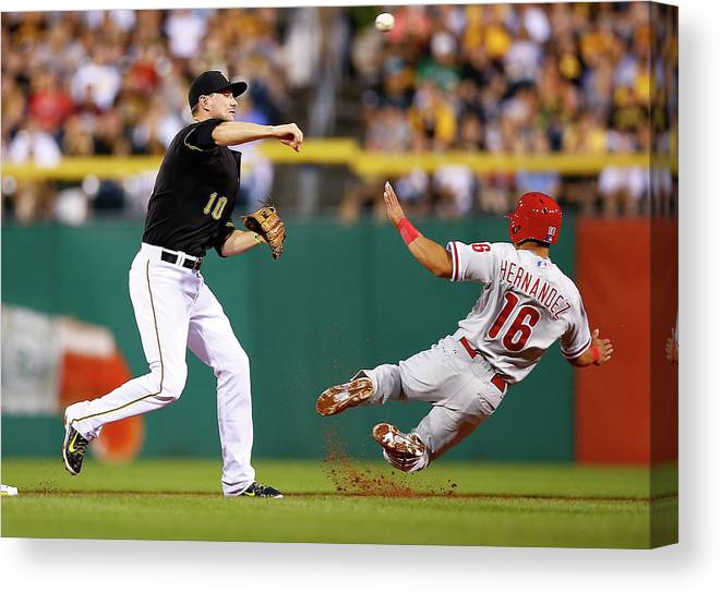 Double Play Canvas Print featuring the photograph Neil Walker by Jared Wickerham