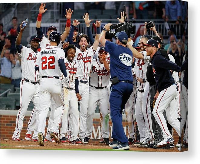 Atlanta Canvas Print featuring the photograph Nick Markakis by Kevin C. Cox
