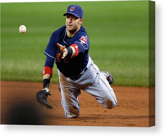 American League Baseball Canvas Print featuring the photograph Nick Swisher by Jared Wickerham
