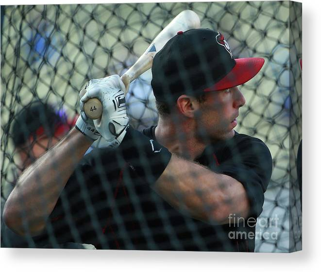 People Canvas Print featuring the photograph Paul Goldschmidt by Victor Decolongon