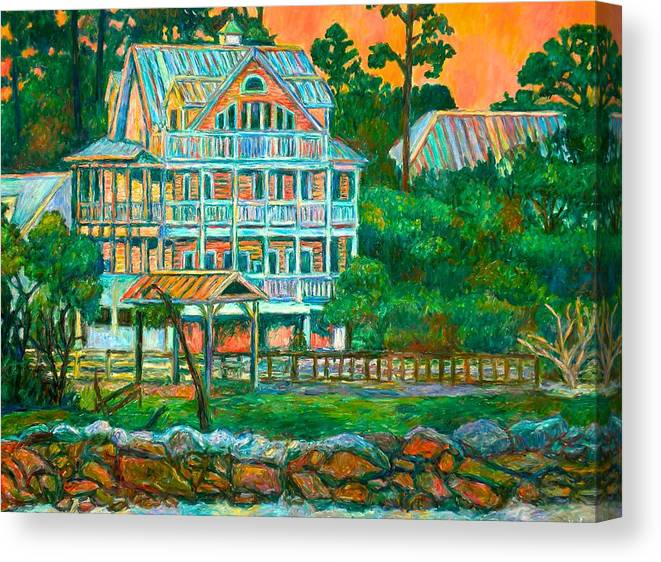 Landscape Canvas Print featuring the painting Pawleys Island Evening by Kendall Kessler