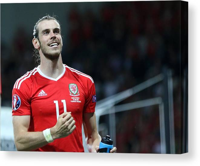 International Match Canvas Print featuring the photograph Russia v Wales - EURO 2016 by Anadolu Agency