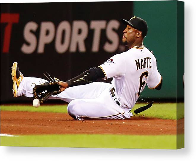 People Canvas Print featuring the photograph Starling Marte by Jared Wickerham