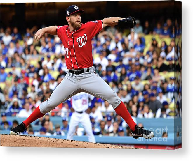 People Canvas Print featuring the photograph Stephen Strasburg by Jayne Kamin-oncea