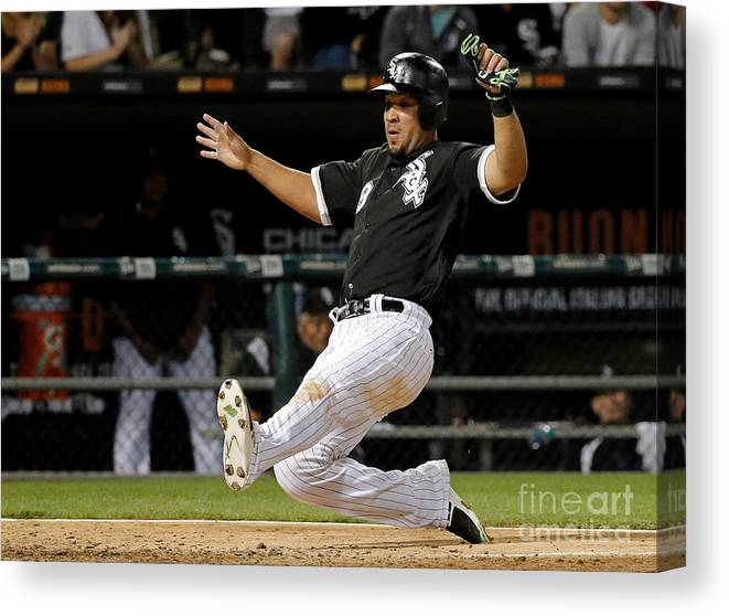 People Canvas Print featuring the photograph Todd Frazier by Jon Durr