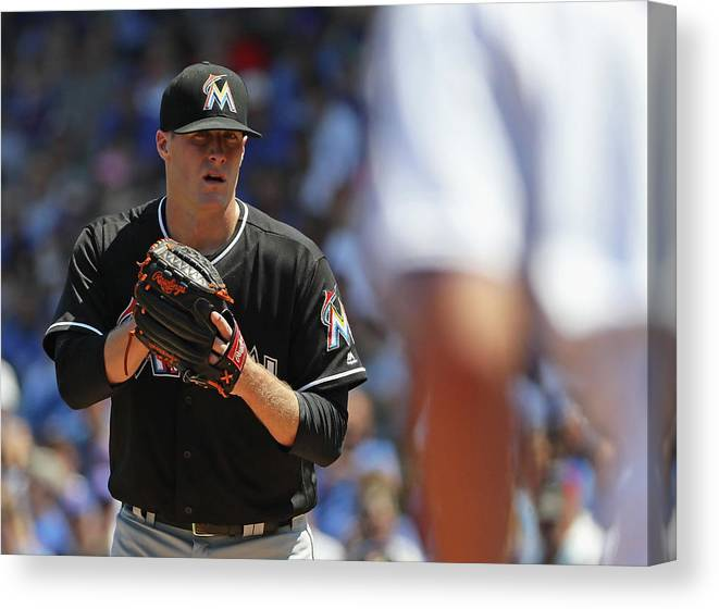 People Canvas Print featuring the photograph Tom Koehler and Kris Bryant by Jonathan Daniel