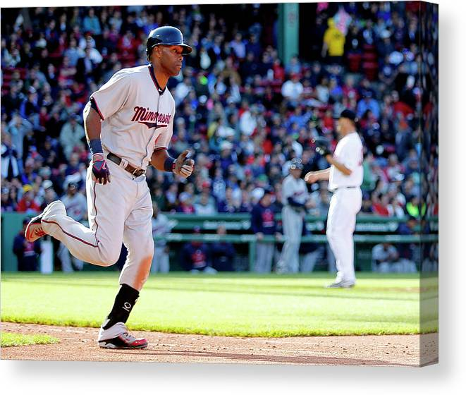People Canvas Print featuring the photograph Torii Hunter by Winslow Townson
