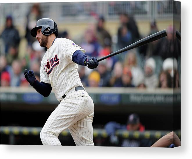 American League Baseball Canvas Print featuring the photograph Trevor Plouffe by Hannah Foslien