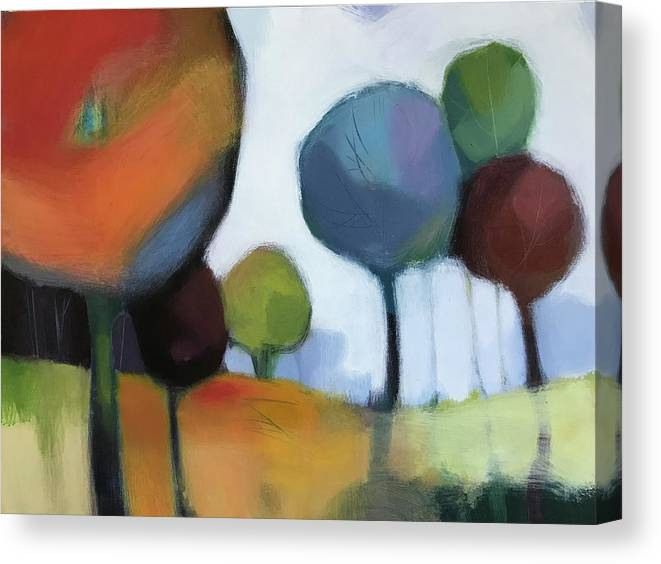 Landscape Canvas Print featuring the painting Untitled III by Farhan Abouassali