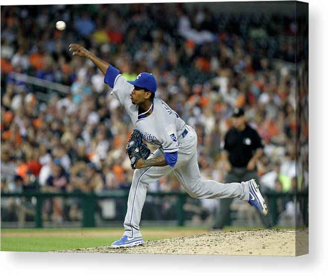 People Canvas Print featuring the photograph Yordano Ventura by Duane Burleson
