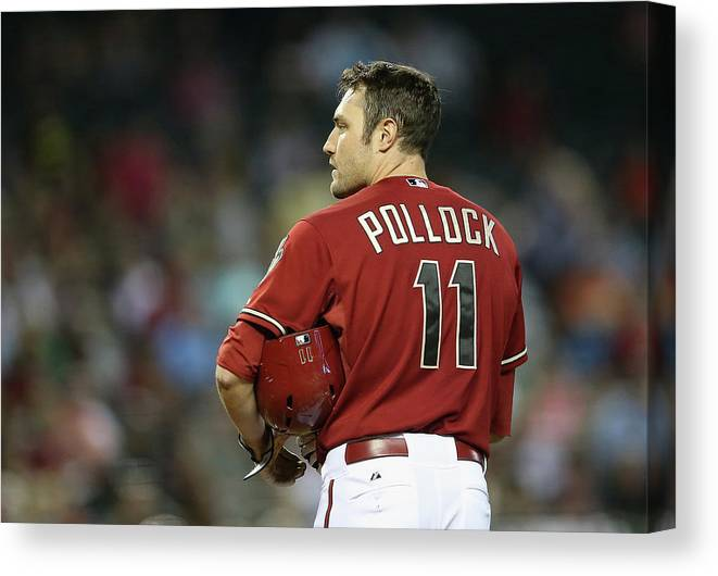 National League Baseball Canvas Print featuring the photograph Washington Nationals V Arizona by Christian Petersen
