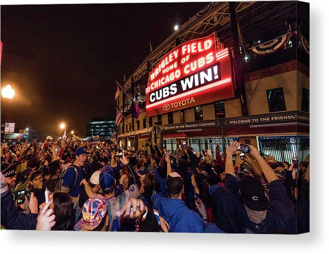 Playoffs Canvas Print featuring the photograph 2016 World Series - Chicago Cubs V by Matt Kosterman