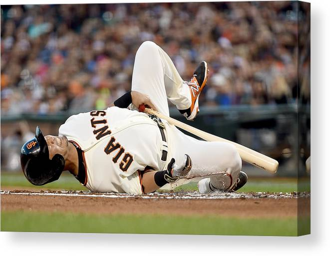 San Francisco Canvas Print featuring the photograph Colorado Rockies V San Francisco Giants by Thearon W. Henderson