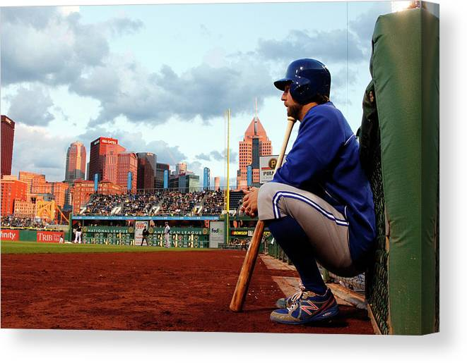 Professional Sport Canvas Print featuring the photograph Toronto Blue Jays V Pittsburgh Pirates by Justin K. Aller