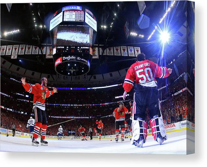 Playoffs Canvas Print featuring the photograph 2015 Nhl Stanley Cup Final - Game Six by Bruce Bennett