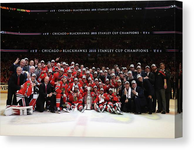Playoffs Canvas Print featuring the photograph 2015 Nhl Stanley Cup Final - Game Six by Dave Sandford
