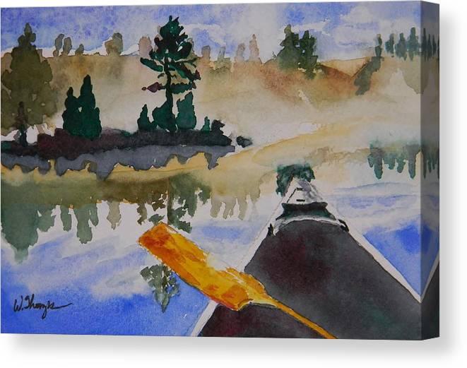 Algonquin Provincial Park Canvas Print featuring the painting Algonquin Provincial Park Ontario Canada by Warren Thompson