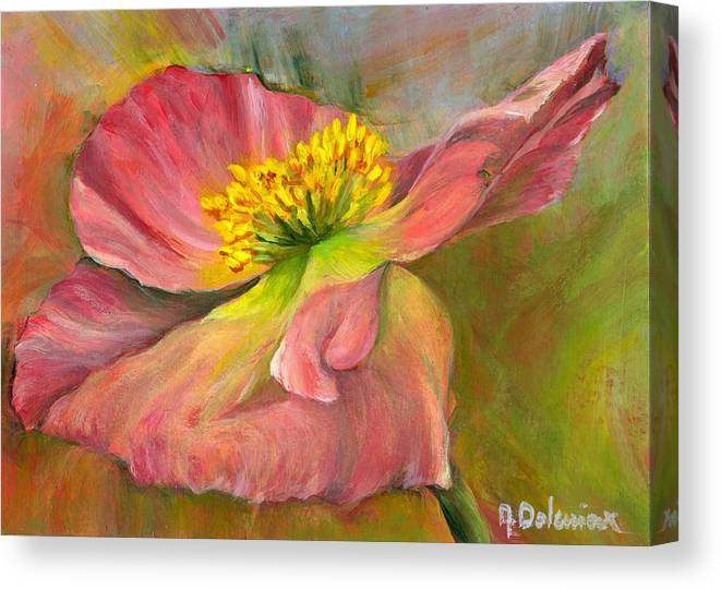 Acrylic Canvas Print featuring the painting Anemone by Muriel Dolemieux