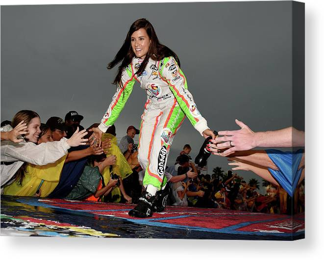 Sport Canvas Print featuring the photograph Coke Zero 400 Powered By Coca-cola by Patrick Smith