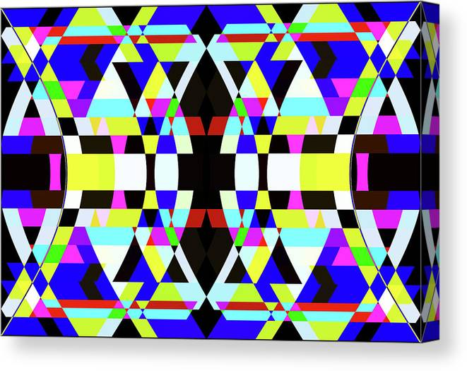 Rectangle Canvas Print featuring the digital art Creative Shapes Abstract Design by Raj Kamal
