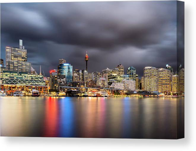 Outdoors Canvas Print featuring the photograph Darling Harbour, Sydney - Australia by Atomiczen