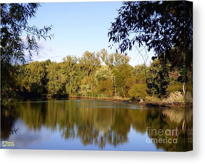 Waterscape Canvas Print featuring the photograph Delta Lake Reflections by Rennae Christman