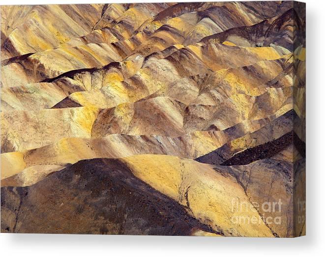 Zabriskie Point Canvas Print featuring the photograph Desert Undulations by Mike Dawson