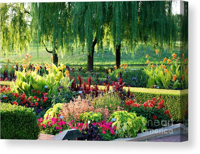 Garden Canvas Print featuring the photograph Entrance Garden by Nancy Mueller