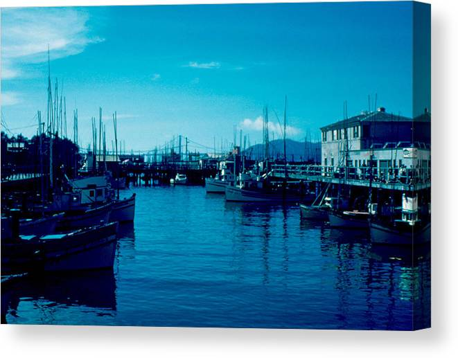 Fisherman's Wharf Canvas Print featuring the photograph Fisherman's Wharf 1955 by Cumberland Warden