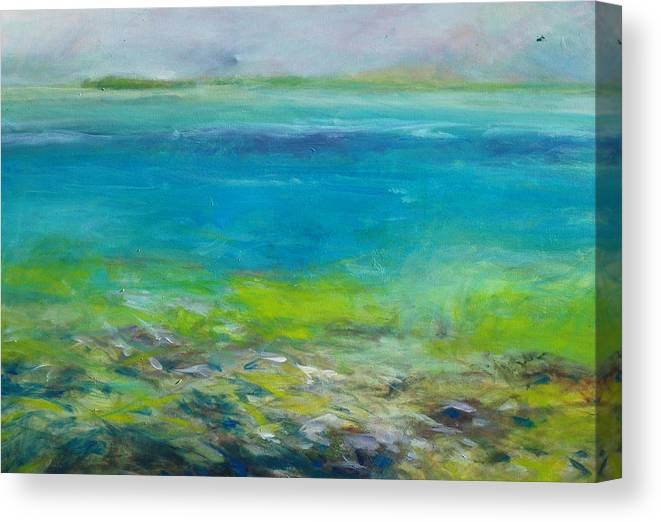 Abstract Canvas Print featuring the painting Intracoastal I by Marilyn Muller