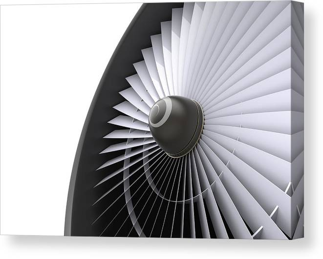 Engine Canvas Print featuring the photograph Jet Turbine by Klenger