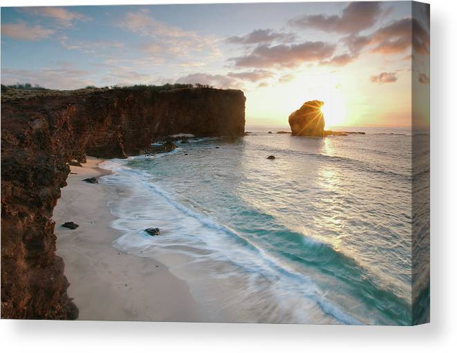 Scenics Canvas Print featuring the photograph Lanai Sunset Resort Beach by M Swiet Productions
