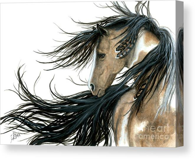 Horse Canvas Print featuring the painting Majestic Horse 89 by AmyLyn Bihrle