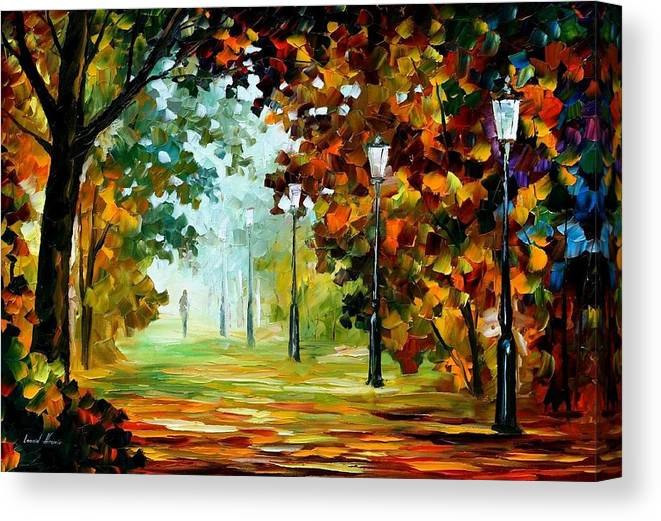 Morning Light 2 Palette Knife Original Landscape Oil Painting On Canvas By Leonid Afremov Canvas Print Canvas Art By Leonid Afremov