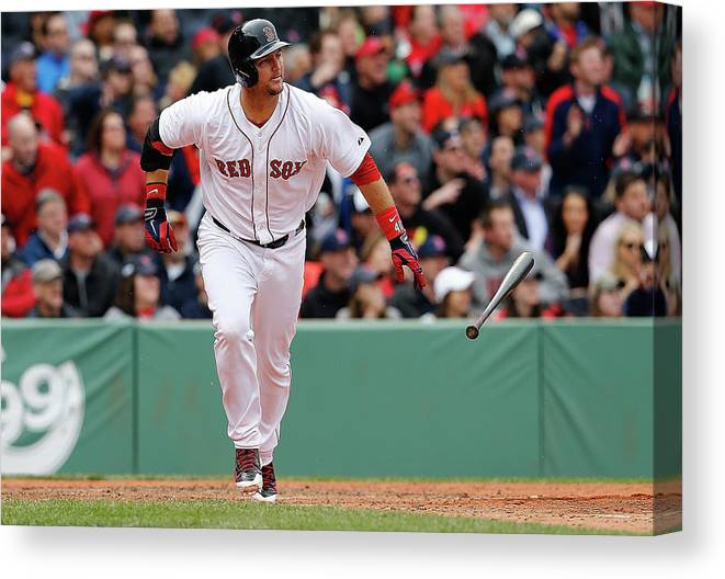 American League Baseball Canvas Print featuring the photograph Oakland Athletics V Boston Red Sox by Jim Rogash
