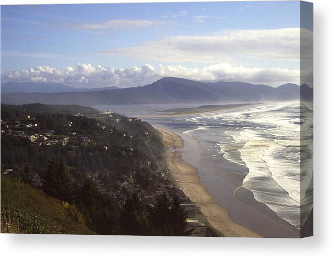 Shore Canvas Print featuring the photograph Oceanside Oregon by Keith Gondron