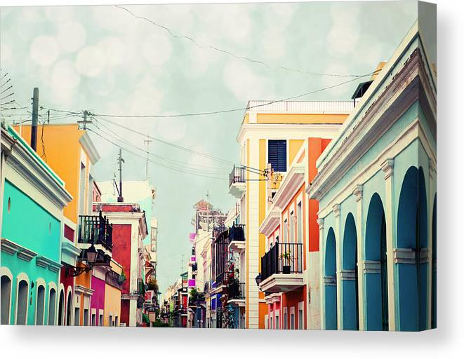 San Juan Canvas Print featuring the photograph Old San Juan Special Request by Kim Fearheiley