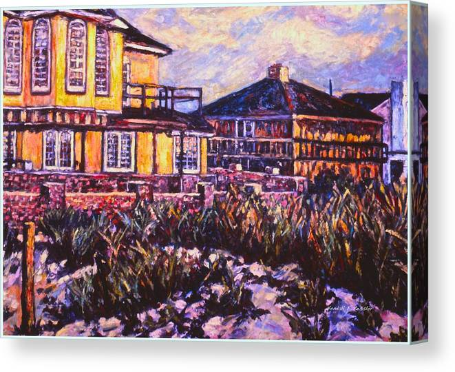Landscape Canvas Print featuring the painting Rehoboth Beach Houses by Kendall Kessler